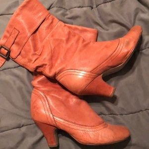 Slouchy calf length boots